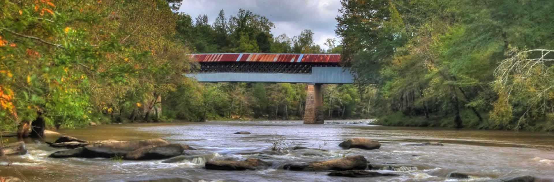 A view of Blount County covered bridge